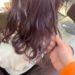 卒業後の初カラーはピンクバイオレットのヘアカラー