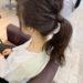【ミリ☆クリームバター】を使った簡単1つ結びヘアアレンジ